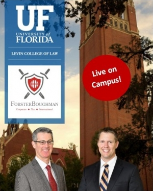"Gary and Brian go Live on campus and present their seminar ""Foreign and Domestic Asset Protection Trusts and Associated Taxation"" to faculty and students at the University of Florida Levin College of Law in Gainesville"